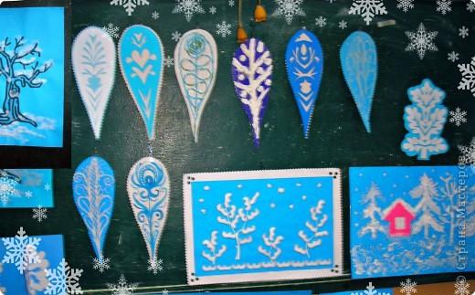 Вот такие узоры расцвели на нашем окне. фото 2