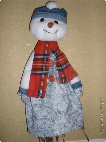 """украшение на дверь""""Снеговик"""""""