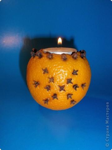 """Апельсиновый подсвечник """"Снежинка"""" фото 1"""