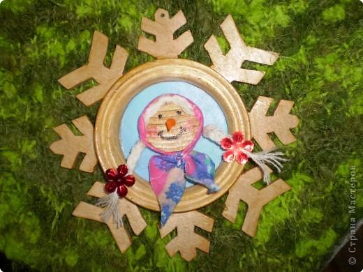 Снежинка - рамка фото 1