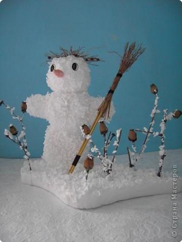 Снеговик от тепла простужается