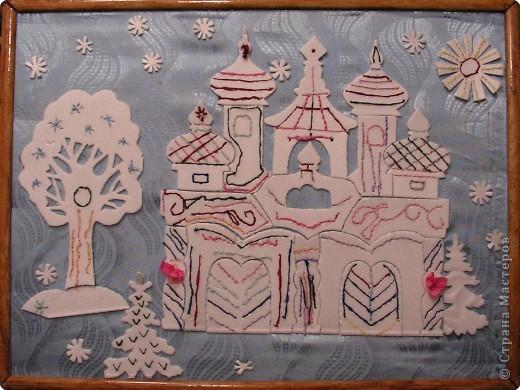 """Коллективная работа по ручному труду детей подготовительной группы на тему: """"Дворец для Деда Мороза и Снегурочки"""""""
