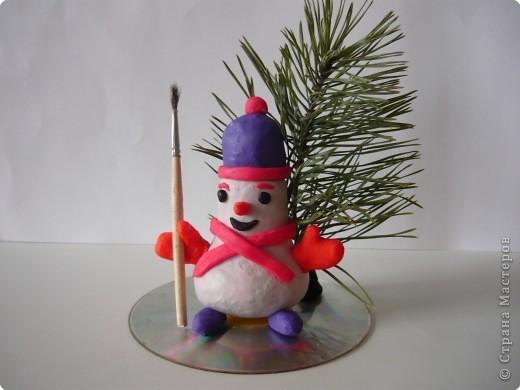Снеговичок из лампочки.