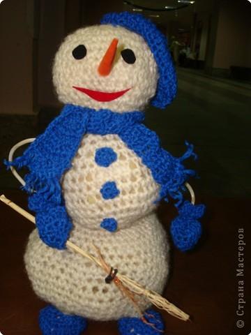Самый модный Снеговик,  синий-синий снегоцвет