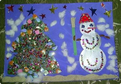 Снеговичок и Елочка