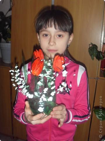 Тюльпаны в вазе фото 2