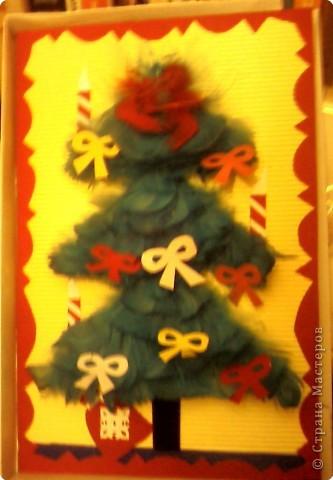"""поздравительная открытка """"Новогодняя ёлочка"""" фото 2"""