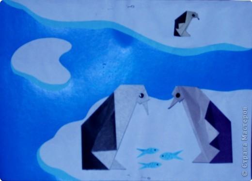 Пингвины на льдине.