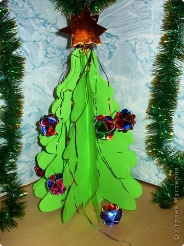Эту маленькую елочку, украшенную шариками я сделала как новогоднюю игрушку. Её я повешу на елку в нашем классе. Мне кажется, получится здорово: ёлочка на ёлочке.