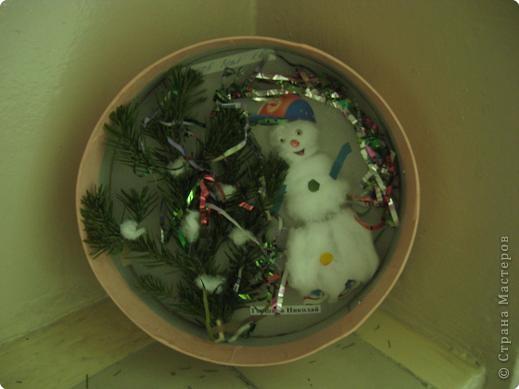 Снеговичок в лукошке