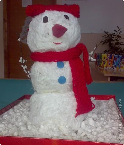 Серьезный снеговик