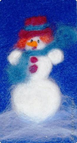 "Открытка ""Добрый снеговик""."