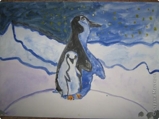 Пингвинчик с папой