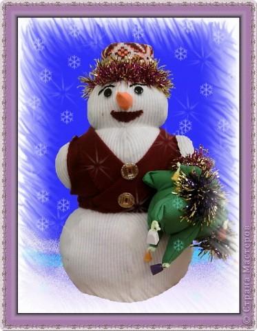 Веселый снеговик фото 2