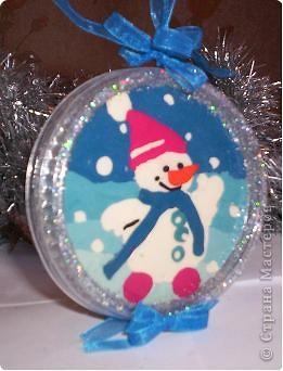 Наш веселый снеговичок фото 1