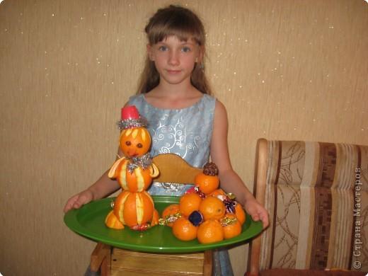 """Настя с подарком для мамы - """"Снегруля"""" фото 1"""