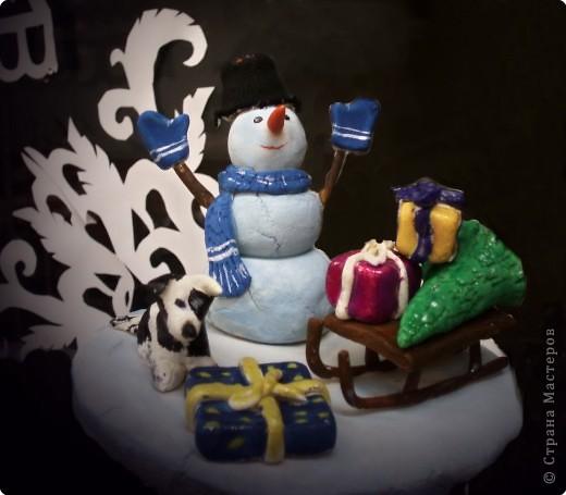 """""""Снеговичок с подарками"""""""