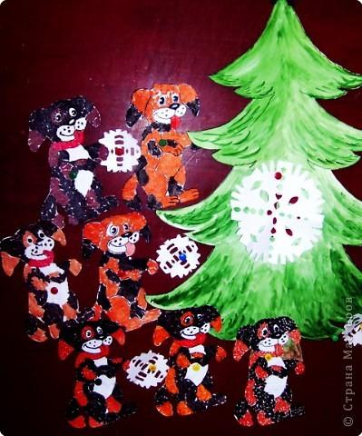С Новым годом ! Сказка о том, как герои открытки стали ёлочными игрушками. фото 4