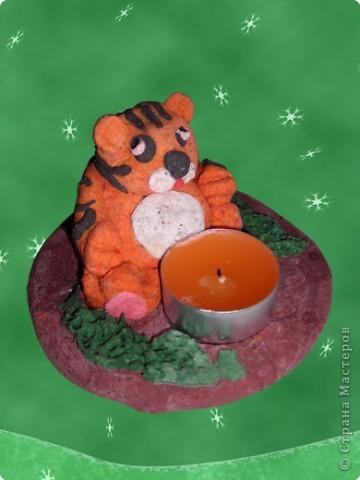 Наш Тигруля не простой, он согреет вас свечой