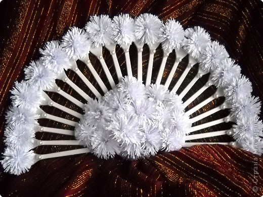 Снежный веер и корона - украшение сезона. фото 1