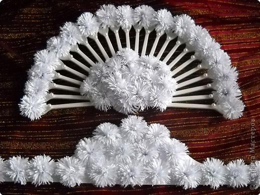 Снежный веер и корона - украшение сезона. фото 5