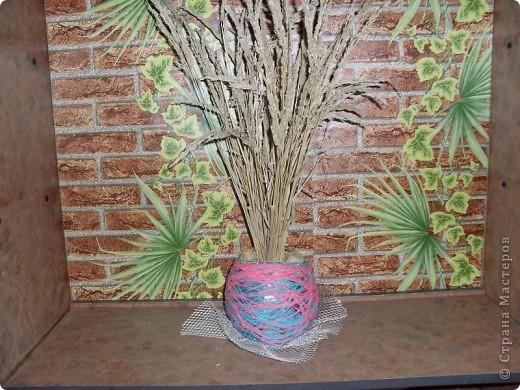 ваза из ниток фото 1