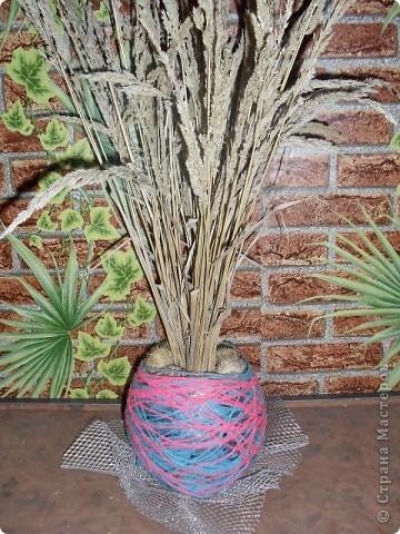 ваза из ниток фото 2
