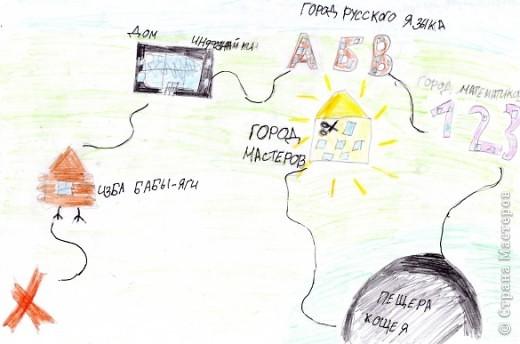 Карта,ведущая к Стране Мастеров