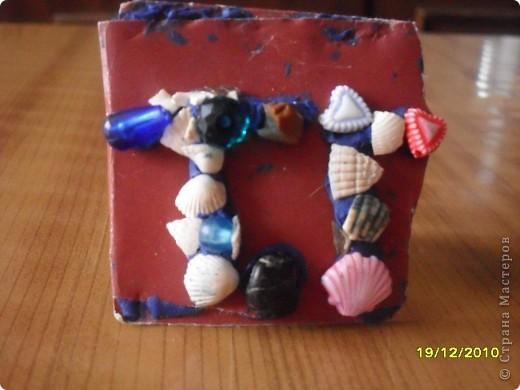 моя визитная карточка из морских ракушек