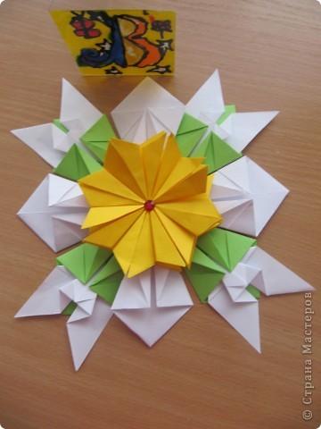 """Это звезда, которая мне больше  всего нравится. Я ее собрала из 4 модулей """"Крылья"""", 8 модулей """"Комета"""", 8 модулей """"Шатл"""" фото 1"""