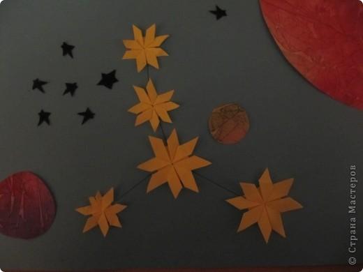 """Мне эта звездочка напоминает снежинку. Я ее сделала из моделей """"крылья, """"ракета"""", """"шатл"""". фото 11"""