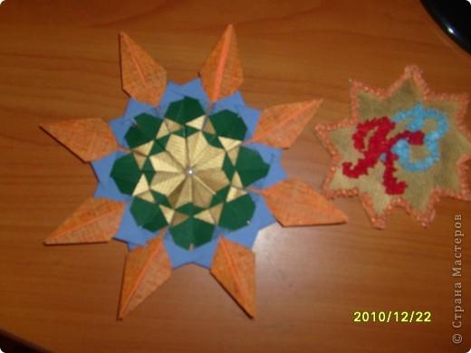 Для начала я поучился делать модули и складывать предложенные звезды. Мне понравилось и я сделал еще несколько звезд. фото 6