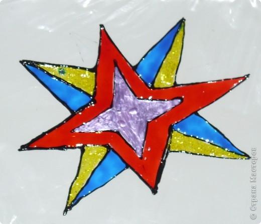 """Свою звезду я выполнила из 4 модулей """"комета"""", 4 модулей """"стрела"""", 4 модулей """"Ракета"""" и конечно же все это моего любимого розового цвета. фото 4"""