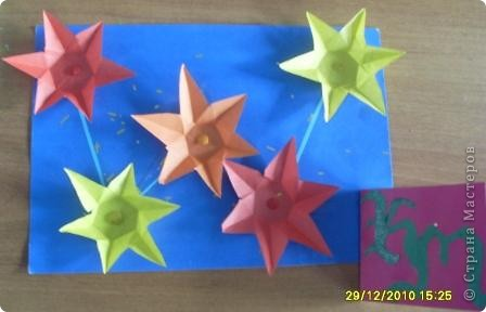 """1. Тренировочный полёт. Моя звезда. Звезду собирала из 12 модулей """"Крылья"""" и 16 модулей """"Стрела"""". А зовут мою звезду """"Каролина"""".  фото 4"""