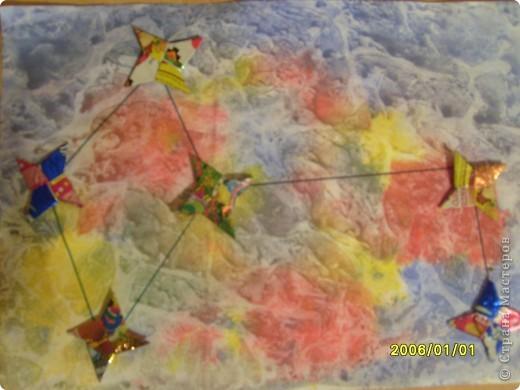 Для начала я поучился делать модули и складывать предложенные звезды. Мне понравилось и я сделал еще несколько звезд. фото 11