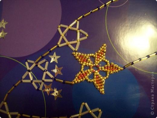 """Вот мое первое задание. Это моя первая звезда. При ее изготовлении я использовала модули """"Крылья"""", """"Шаттл"""", """"Ракета"""" (всех взяла по 4 шт.). Называется моя звезда """"Мудрая"""". она дарит людям знания и на своих волшебных лучиках рассылает им таланты. фото 6"""