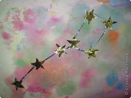"""Свою звезду я назвала ласково-Елочная Звездочка, потому что она напоминает нежные хвойные веточки, покрытые белым снегом. Звездочка получилась из 10 модулей """"Ракета"""", """"Шаттл""""-10. фото 3"""