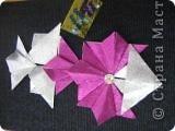 Звезда называется Сириус.Она очень яркая. Я её сделала из модулей Шатл 3 штуки, из модулей Крылья 4 штуки, из модулей Ракета 6 штук, из модулей Стрела. фото 2