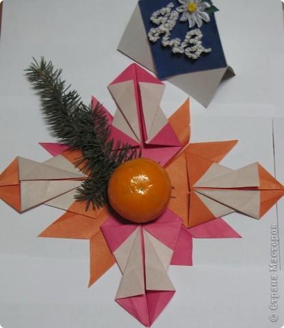 """Эту звезду я назвала """"Новогодняя сказка"""". Использовала модули Комета и Крылья. фото 1"""