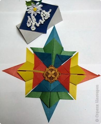 """Эту звезду я назвала """"Новогодняя сказка"""". Использовала модули Комета и Крылья. фото 4"""