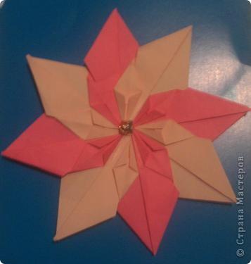 """для этой звезды я взяла по 5 модулей """"шатл"""", """"стрела"""", """"ракета"""". Делала из бумаги для оригами, там в наборе есть золотая бумага! фото 7"""