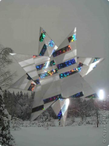 """Очень понравилась информация о звездах.  А вот и моя звезда! Использовала 4 модуля """"крылья"""" и 4 модуля """"стрела"""".  Фотографировала со вспышкой. фото 7"""