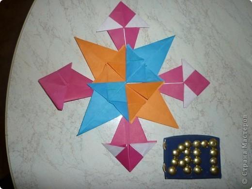 """моя звезда """"Роза ветров"""" из модулей стрела фото 2"""