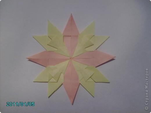 """1.Моя звезда. Свою звезду я собрала из 4 модулей """"Крылья"""", 4 модуля """"Стрела"""" и 4 модуля """"Звезда"""". фото 5"""