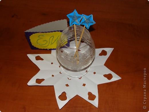 Тема1: Тренировочный полёт.Моя звезда. Звезда Вифлиема, так назвала я эту звёздочку.Она сложена из модуля Звездолёт, из базовой формы птица.( 8 модулей основная часть и 8 модулей серединка ) фото 7