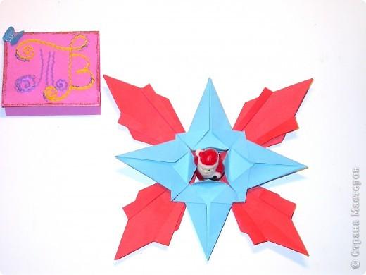 Моя звезда.  Моя звезда новогодняя и весит у меня на ёлке с верху,рядом с бантиками и колокольчиками. Необычную звезду на ёлке заметили мои друзья,им понравилось. фото 7