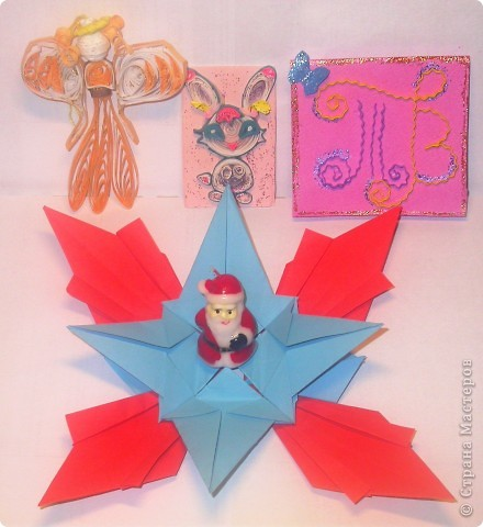 Моя звезда.  Моя звезда новогодняя и весит у меня на ёлке с верху,рядом с бантиками и колокольчиками. Необычную звезду на ёлке заметили мои друзья,им понравилось. фото 8