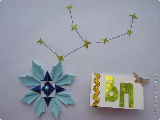 """Я сделала самую яркую звезду своего знака зодиака Дева - звезду Спика, в переводе с латинского означает """"колос"""". Спика по яркости 14 звезда из 20 самых ярких звёзд, она в 5 раз ярче Солнца и по массе в 11 раз больше массы Солнца.  Спика - голубой гигант, поэтому моя звезда тоже голубая. Она состоит из 4 модулей Стрела и 8 модулей Ракета. фото 2"""