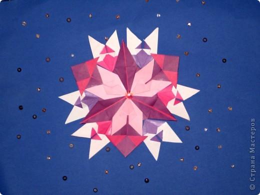 """Это моя звездочка в Космосе. Она сделана  из 9 модулей """"крылья"""",3 модулей """"стрела""""и 3 модулей""""звездолет"""". фото 2"""