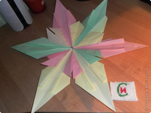 """""""Полярная звезда"""" Для ее изготовления мне понадобилось 6 """"Шатлов"""" и 6 """"Ракет""""  Моя звезда мне очень нравиться !!  !На сегодняшный день моя звезда весит у меня дома на самой вершине нашей новогодней елки. фото 1"""